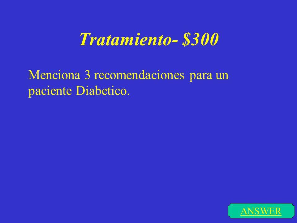 Tratamiento- $200 ANSWER Menciona los objetivos del tratamiento a largo plazo.