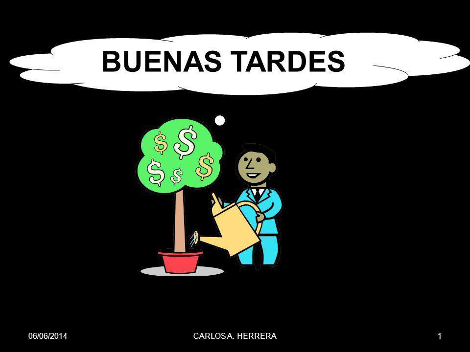 06/06/201462CARLOS A. HERRERA TREMA = 27% INV. INICIAL = $27,000.00 DATOS DEL EJEMPLO # 1 SOLUCIÓN…