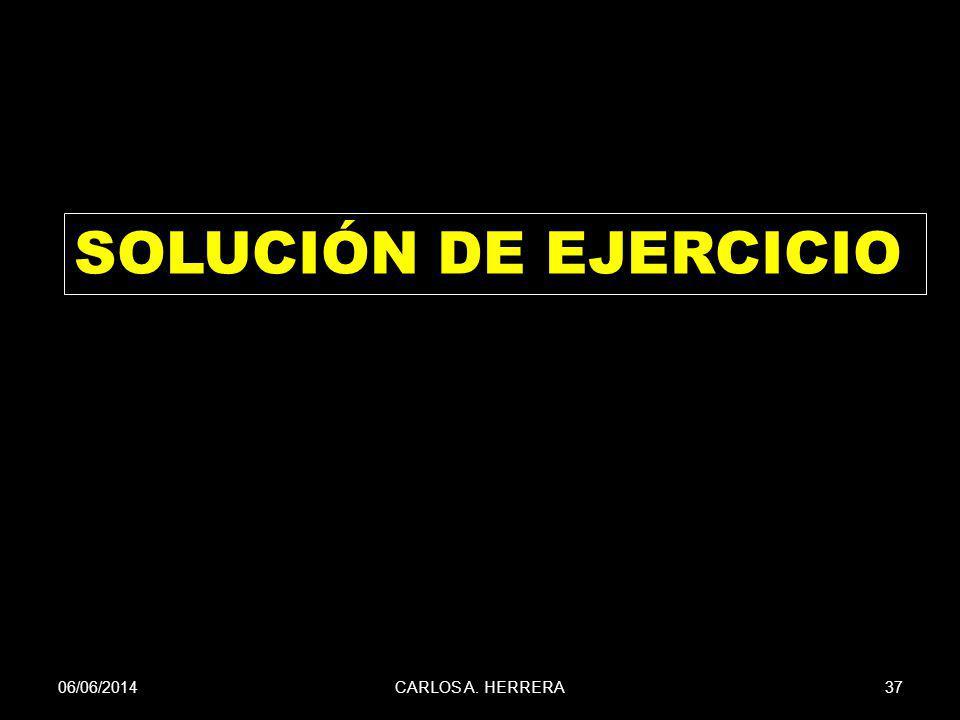 06/06/201437CARLOS A. HERRERA SOLUCIÓN DE EJERCICIO