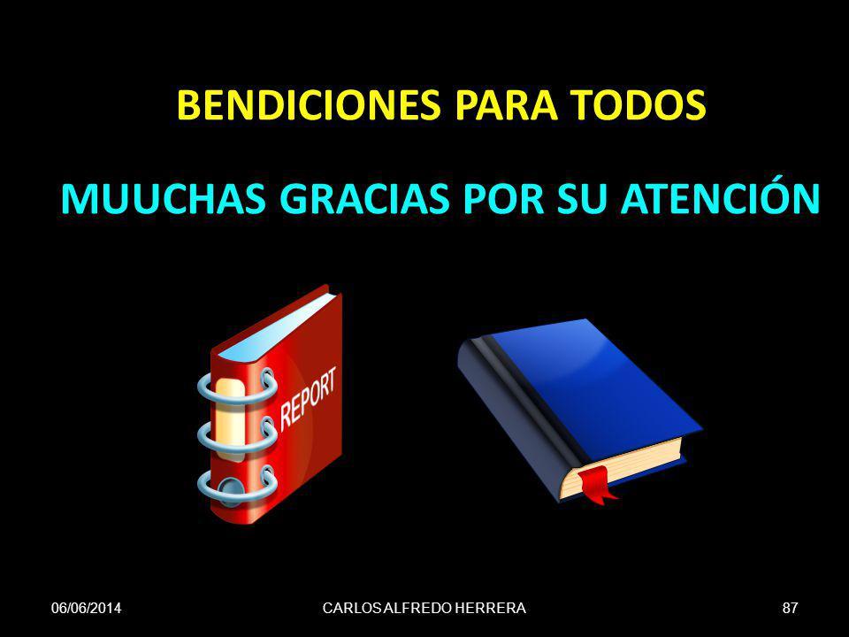CARLOS ALFREDO HERRERA87 BENDICIONES PARA TODOS MUUCHAS GRACIAS POR SU ATENCIÓN 06/06/2014