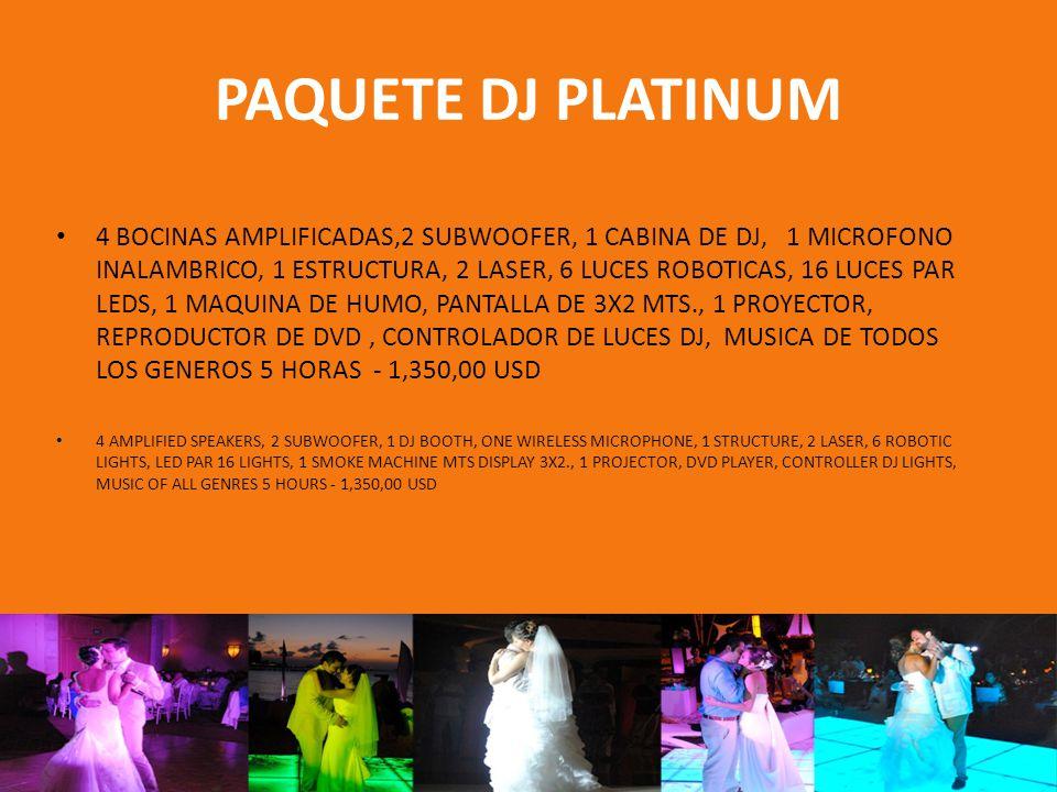 PAQUETE DJ CEREMONIA 1 BOCINA AMPLIFICADA CON TRIPIE, 1 MICROFONO INHALAMBRICO, 1 REPRODUCTOR DE MUSICA, DJ - 170 USD 1 SPEAKER AMPLIFIED WITH TRIPOD, 1 WIRELESS MICROPHONE, 1 MUSIC PLAYER - DJ - 170 USD