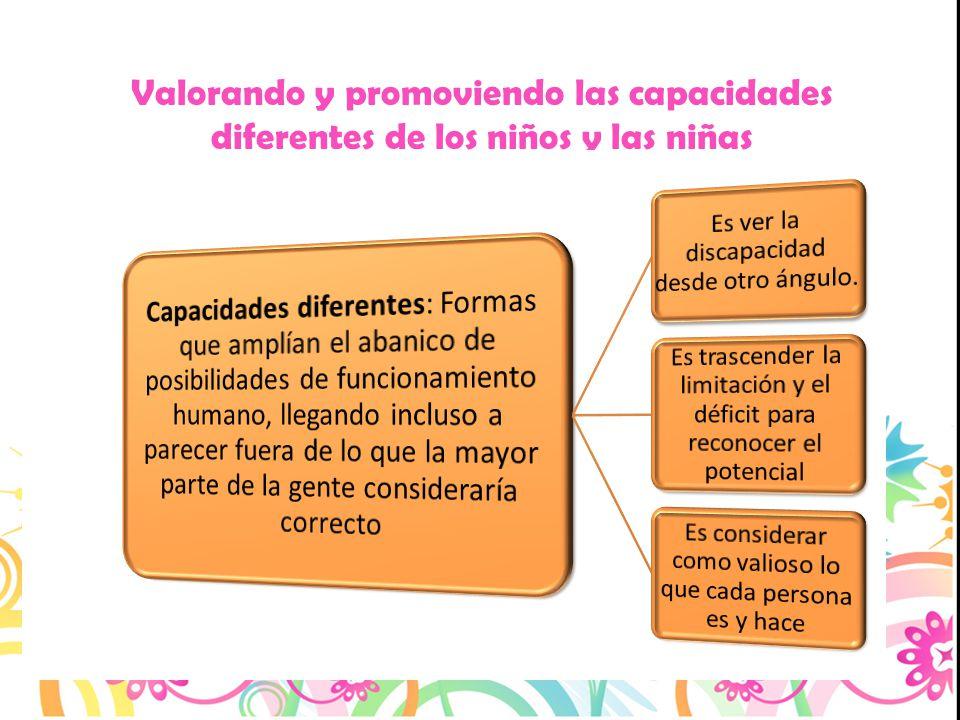 Valorando y promoviendo las capacidades diferentes de los niños y las niñas