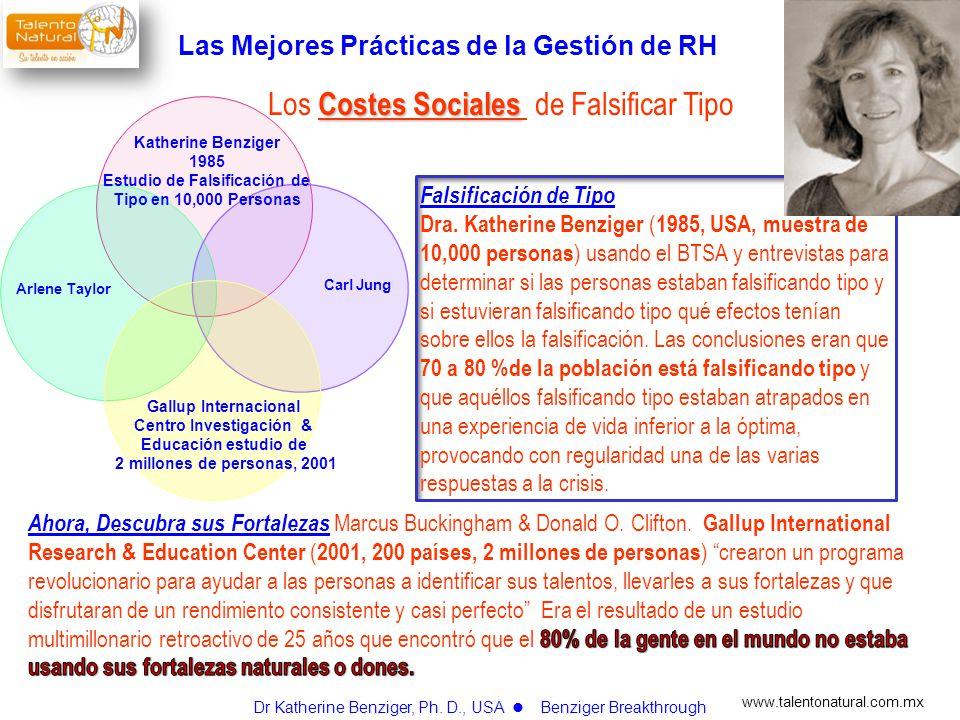 www.talentonatural.com.mx Costes Sociales Los Costes Sociales de Falsificar Tipo Katherine Benziger 1985 Estudio de Falsificación de Tipo en 10,000 Pe