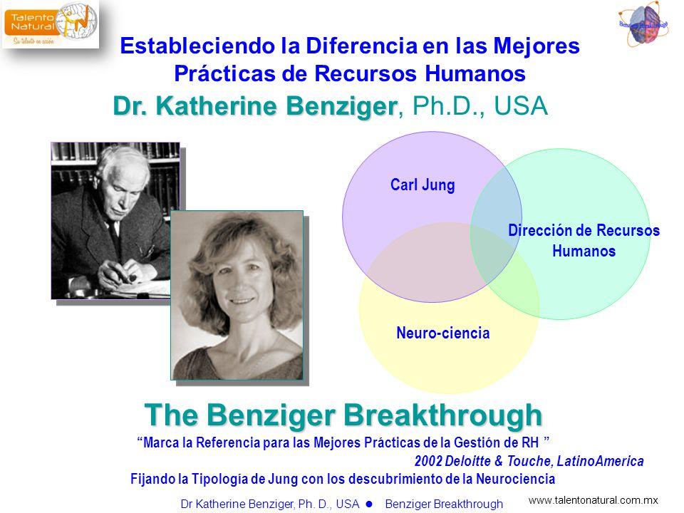 www.talentonatural.com.mx The Benziger Breakthrough Marca la Referencia para las Mejores Prácticas de la Gestión de RH 2002 Deloitte & Touche, LatinoA