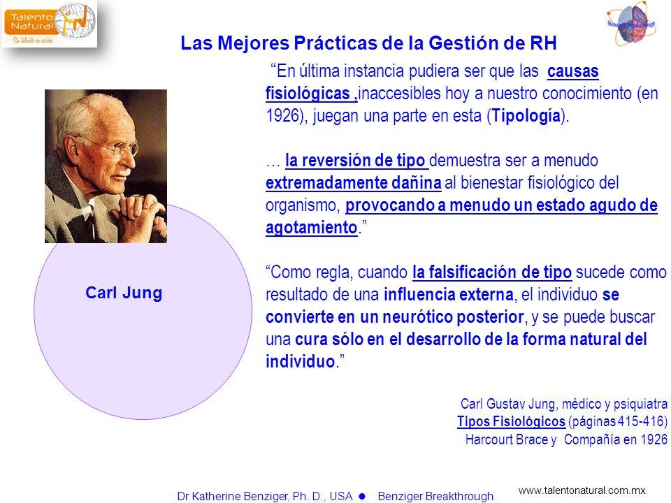 www.talentonatural.com.mx Carl Jung En última instancia pudiera ser que las causas fisiológicas, inaccesibles hoy a nuestro conocimiento (en 1926), ju