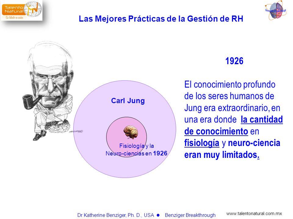 www.talentonatural.com.mx Carl Jung 2006 El conocimiento profundo de Jung puede explicarse hoy, porque la cantidad de conocimiento en fisiología y neuro-ciencia se han expandido tremendamente.