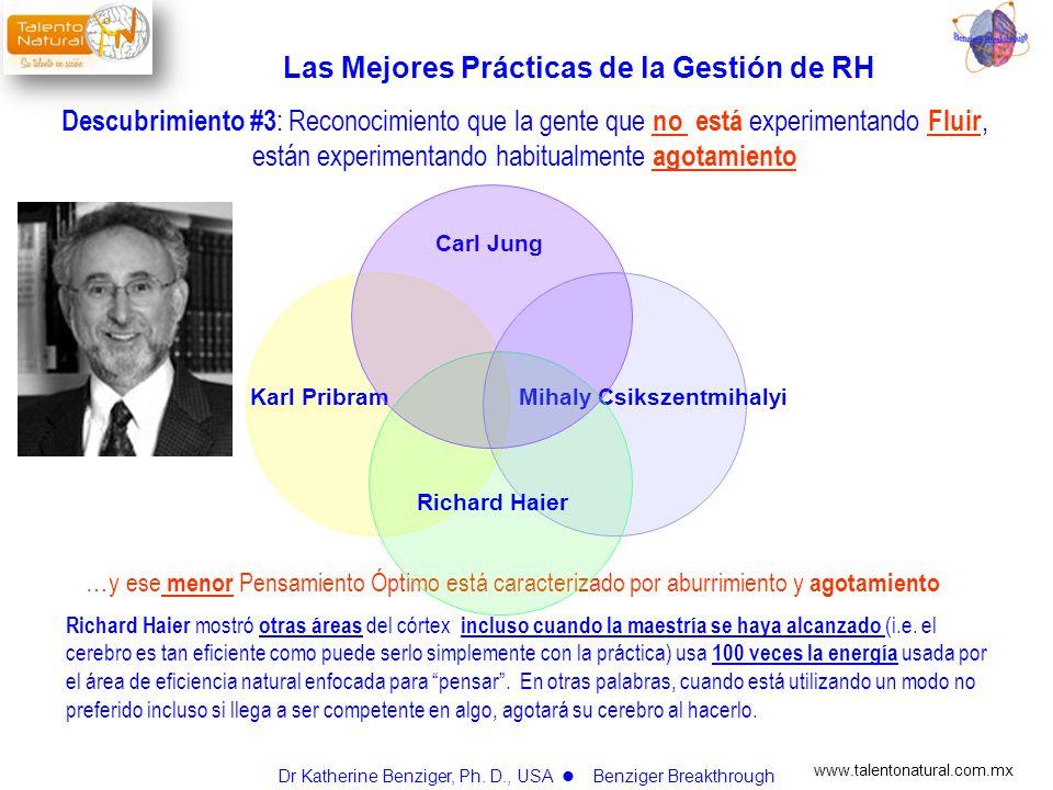 www.talentonatural.com.mx … y ese menor Pensamiento Óptimo está caracterizado por aburrimiento y agotamiento Richard Haier mostró otras áreas del córt