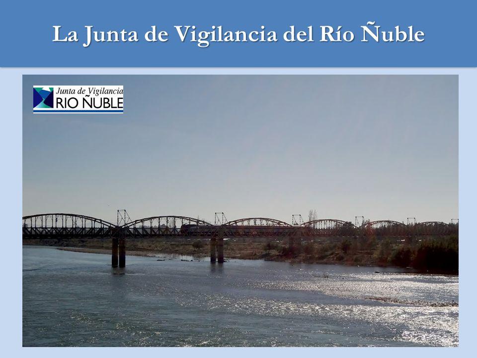 SECTOR DE INFLUENCIA DE LA JUNTA VIGILANCIA DEL RIO ÑUBLE: El universo bajo la influencia del Río Ñuble se estima en alrededor de 25.000 personas, según se detalla: 25.000 personas beneficiadas por el riego del Río Ñuble 5.000 agricultores dueños de predios regados por el Río Representantes de 53 canales Directorio de Junta de Vigilancia Administración Junta de Vigilancia -5 Directores (periodo de 1 año).