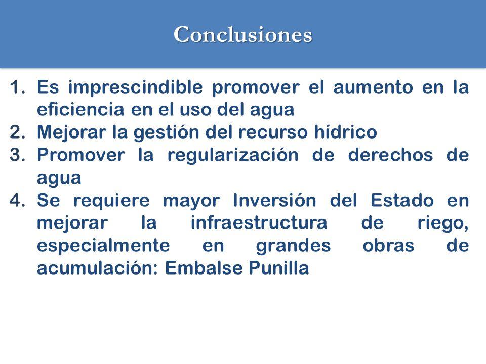 Desafíos de la JVRÑ 1.Aumentar la seguridad de riego: Construcción embalse Punilla Mejoramiento infraestructura: aumento eficiencia, incorporación tecnologías.