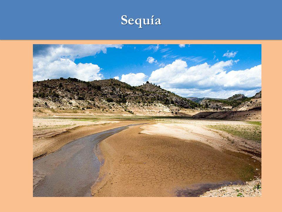 Sequía 1.La sequía es, de acuerdo al diccionario de la Real Academia Española (RAE), un tiempo seco de larga duración.