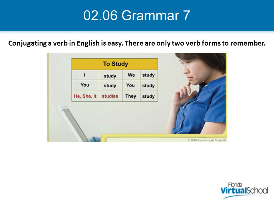 02.06 Grammar 8 In Spanish, there are different endings for each person.