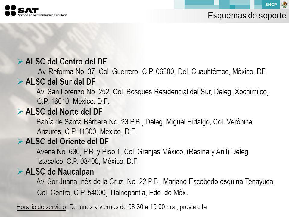 ALSC del Centro del DF Av.Reforma No. 37, Col. Guerrero, C.P.