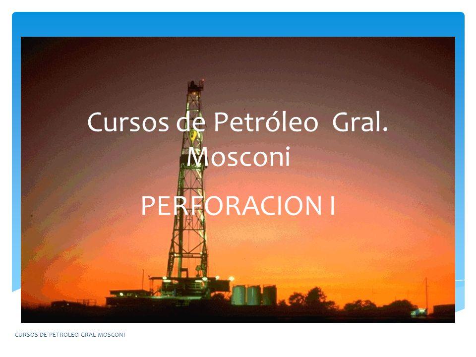 Cursos de Petróleo Gral. Mosconi PERFORACION I CURSOS DE PETROLEO GRAL MOSCONI