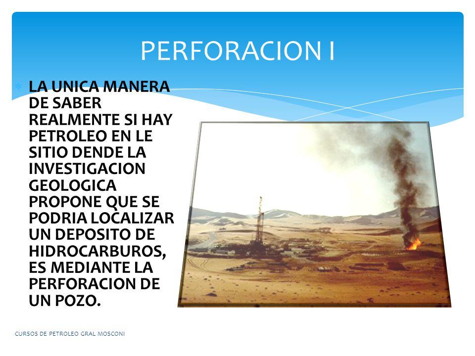 LA UNICA MANERA DE SABER REALMENTE SI HAY PETROLEO EN LE SITIO DENDE LA INVESTIGACION GEOLOGICA PROPONE QUE SE PODRIA LOCALIZAR UN DEPOSITO DE HIDROCA