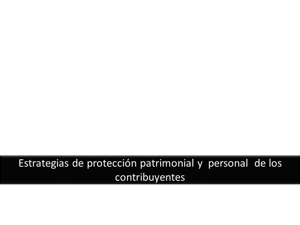 Estrategias de protección patrimonial y personal de los contribuyentes