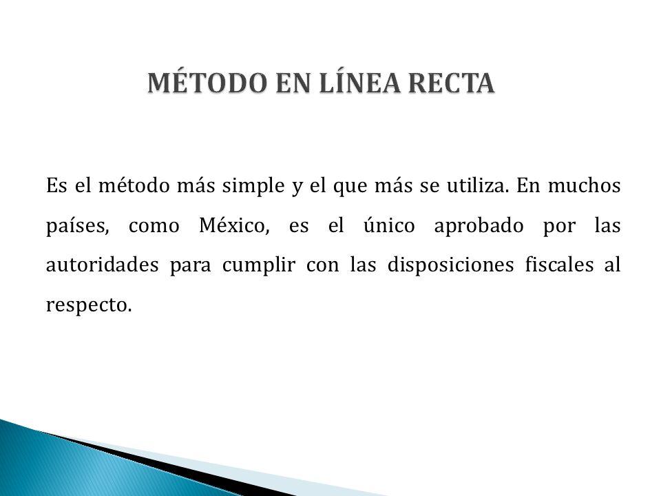 Es el método más simple y el que más se utiliza. En muchos países, como México, es el único aprobado por las autoridades para cumplir con las disposic