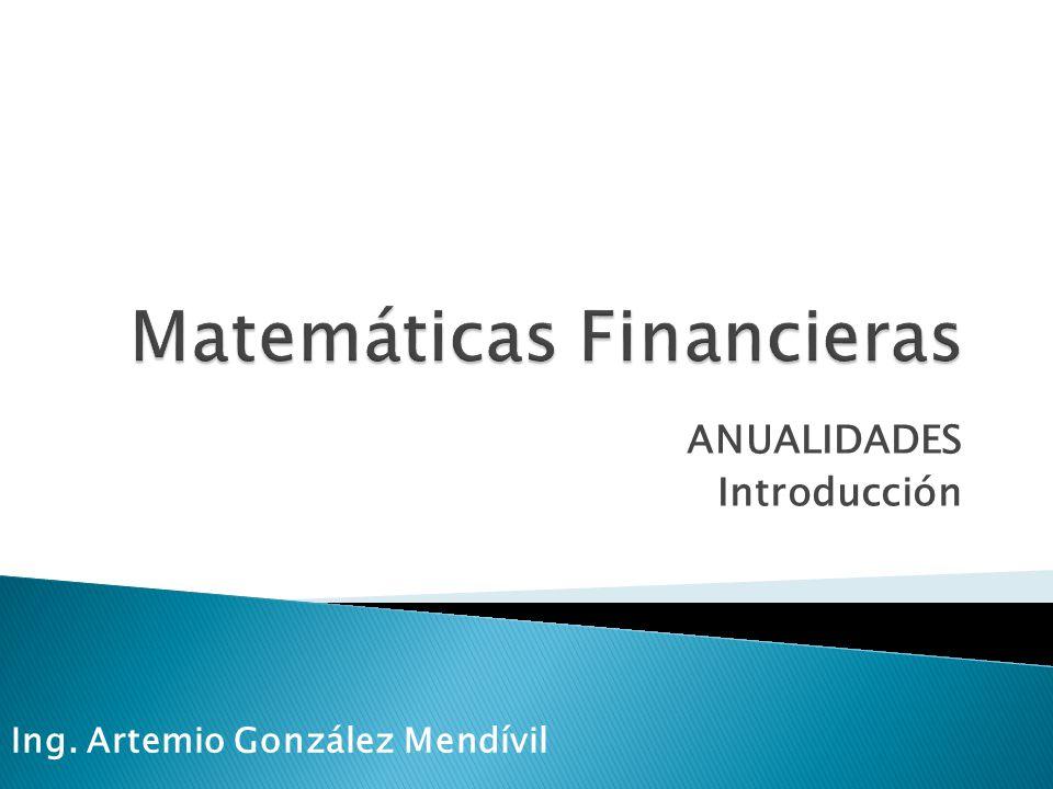 Se le denomina anualidad a un conjunto de pagos iguales realizados a intervalos iguales.