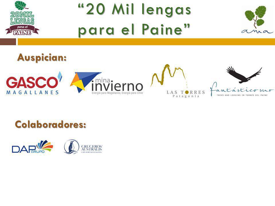 Auspician: 20 Mil lengas para el Paine Colaboradores: