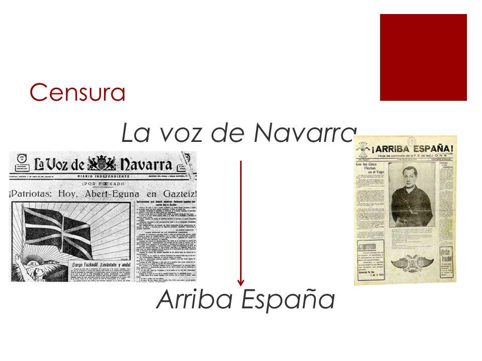 Censura La voz de Navarra Arriba España