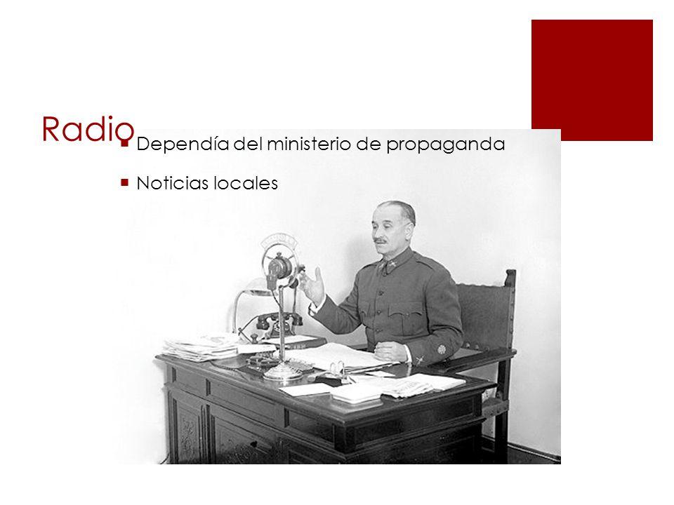 Radio Dependía del ministerio de propaganda Noticias locales
