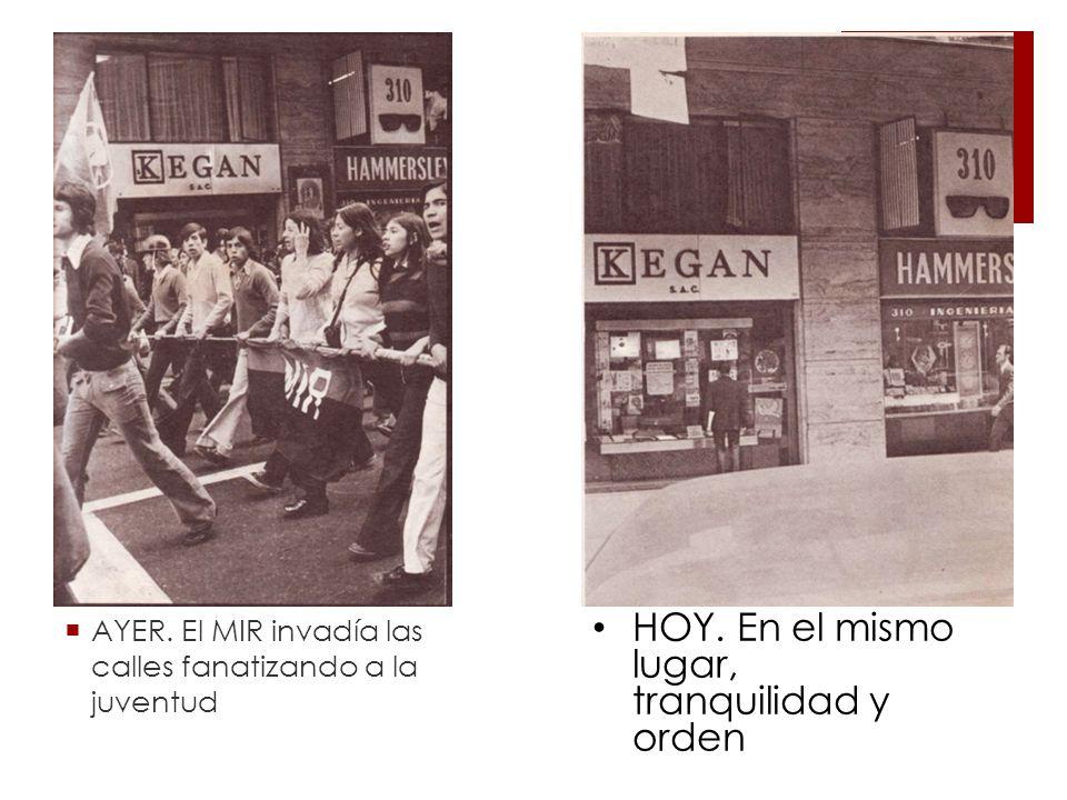 AYER.El MIR invadía las calles fanatizando a la juventud HOY.