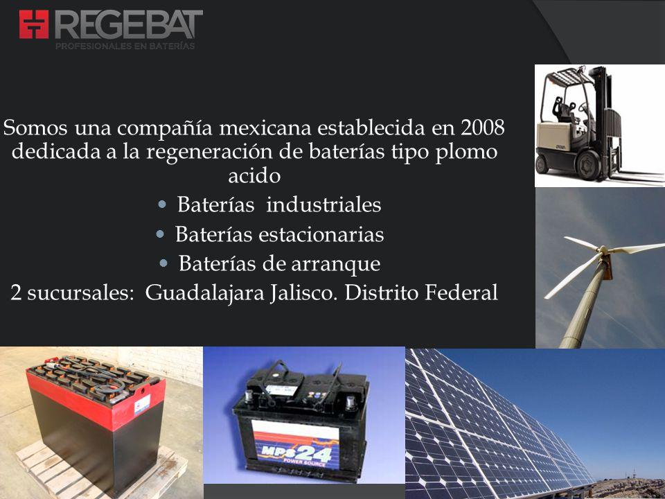 Somos una compañía mexicana establecida en 2008 dedicada a la regeneración de baterías tipo plomo acido Baterías industriales Baterías estacionarias B