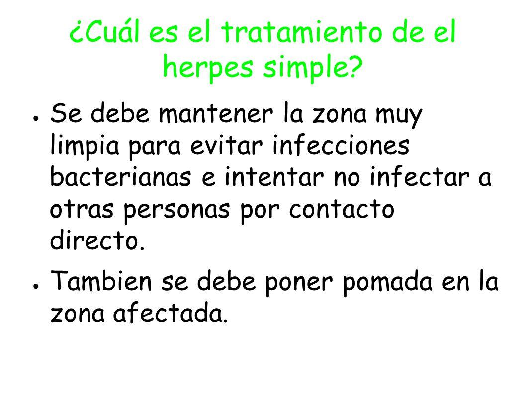 ¿Cuál es el tratamiento de el herpes simple.