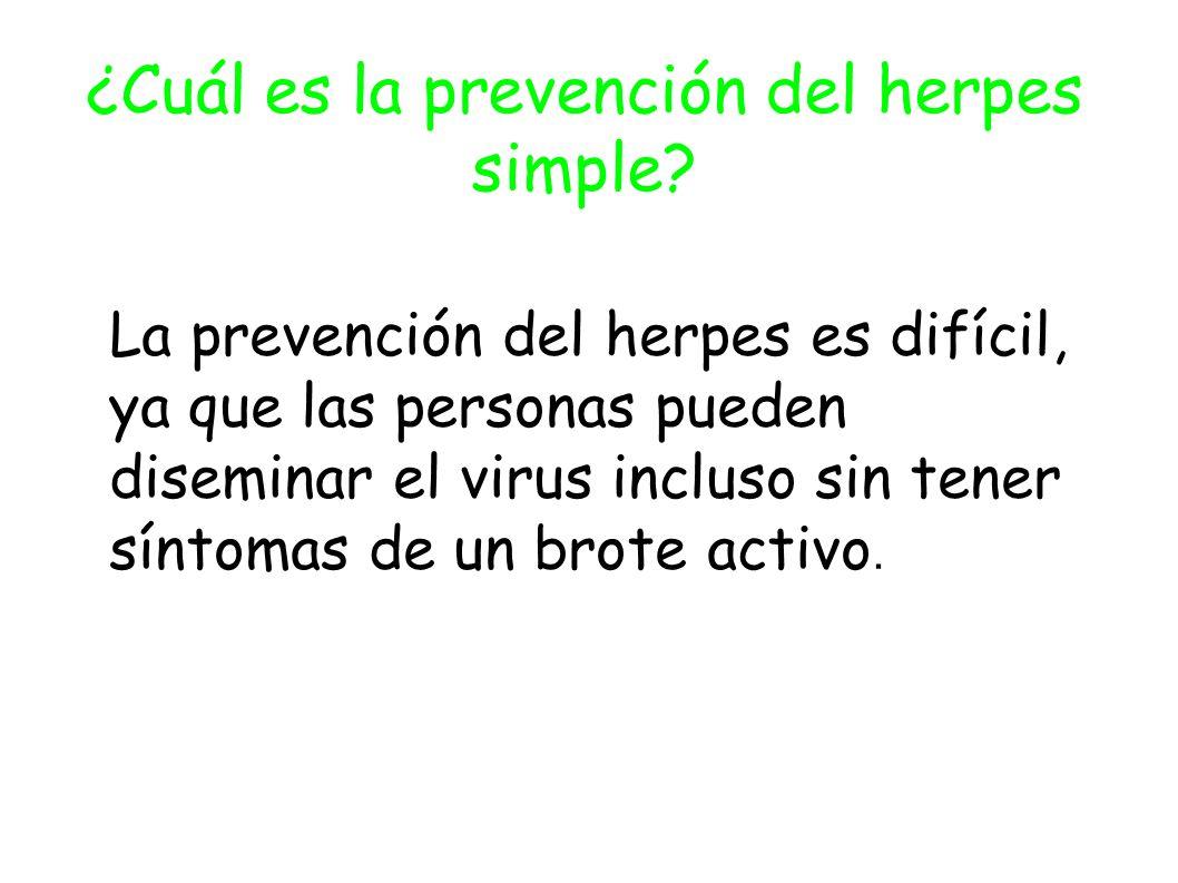 ¿Cuál es la prevención del herpes simple.
