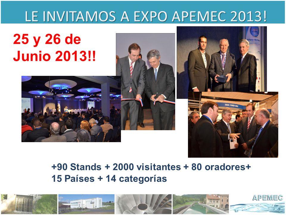 LE INVITAMOS A EXPO APEMEC 2013.