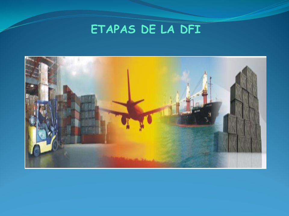 LA DFI SE DIVIDE EN 4 ETAPAS: 1.Análisis de la Carga a transportar 2.