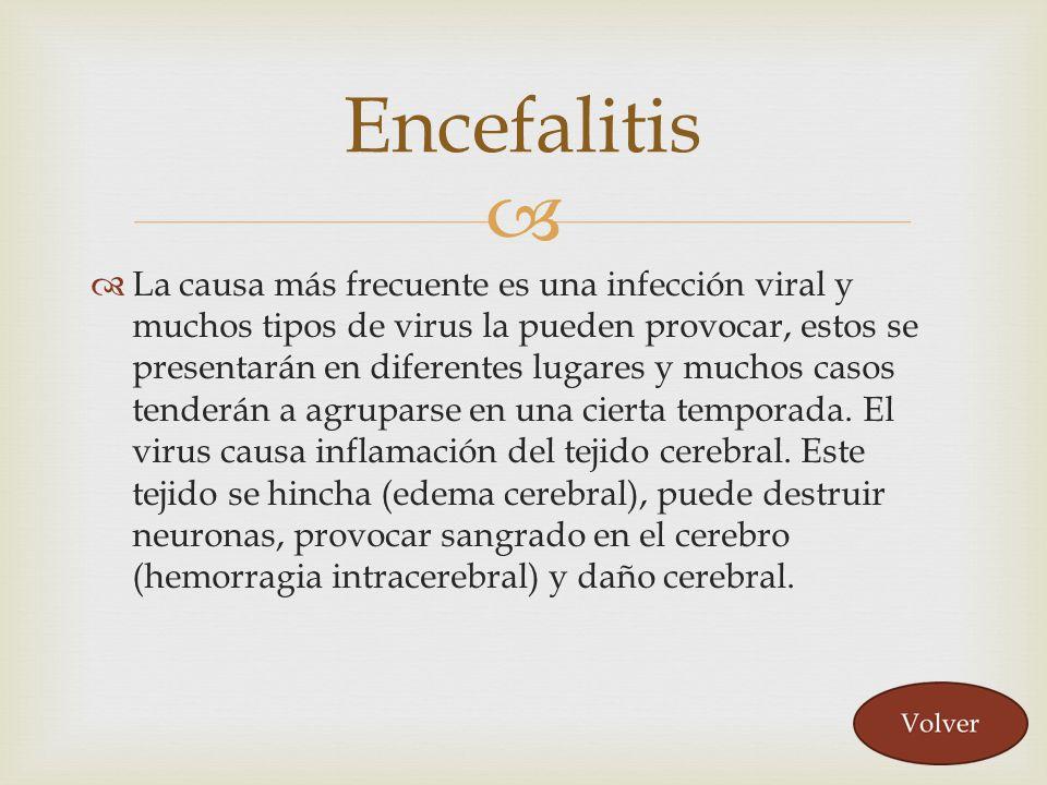La causa más frecuente es una infección viral y muchos tipos de virus la pueden provocar, estos se presentarán en diferentes lugares y muchos casos te