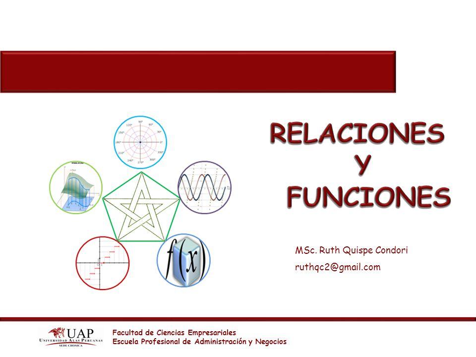 Facultad de Ciencias Empresariales Escuela Profesional de Administración y Negocios MSc. Ruth Quispe Condori ruthqc2@gmail.com