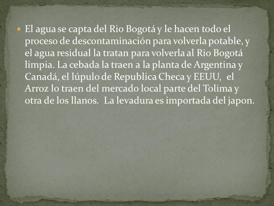El agua se capta del Rio Bogotá y le hacen todo el proceso de descontaminación para volverla potable, y el agua residual la tratan para volverla al Ri