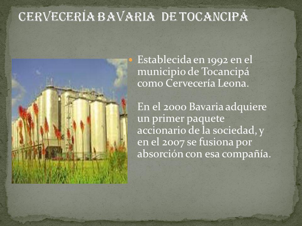 Establecida en 1992 en el municipio de Tocancipá como Cervecería Leona. En el 2000 Bavaria adquiere un primer paquete accionario de la sociedad, y en