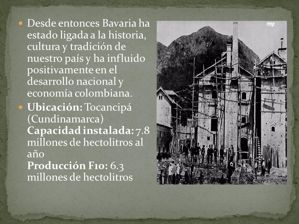 Desde entonces Bavaria ha estado ligada a la historia, cultura y tradición de nuestro país y ha influido positivamente en el desarrollo nacional y eco