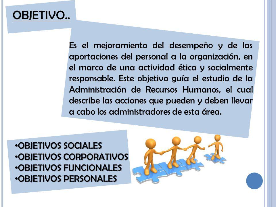 Es el mejoramiento del desempeño y de las aportaciones del personal a la organización, en el marco de una actividad ética y socialmente responsable.