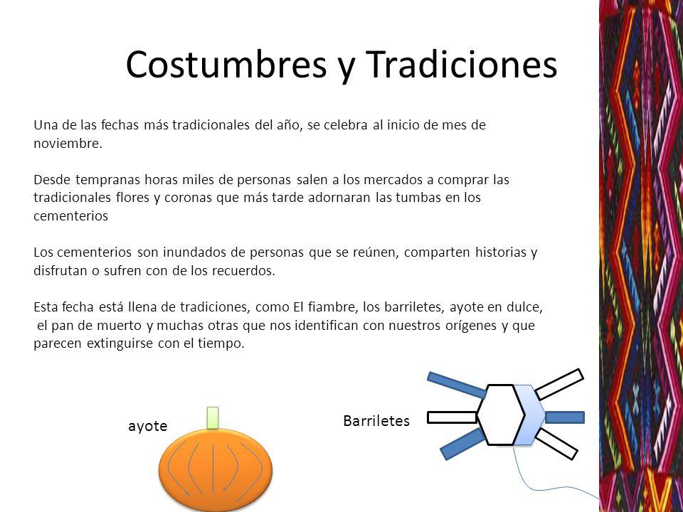 Costumbres y Tradiciones Una de las fechas más tradicionales del año, se celebra al inicio de mes de noviembre. Desde tempranas horas miles de persona