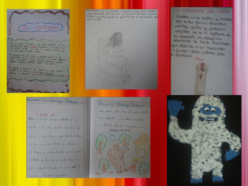 Transformar cuentos y narraciones con los personajes de mitos y leyendas. En la hora de plan lector se lee libros sobre mitos y leyendas. Creación y r