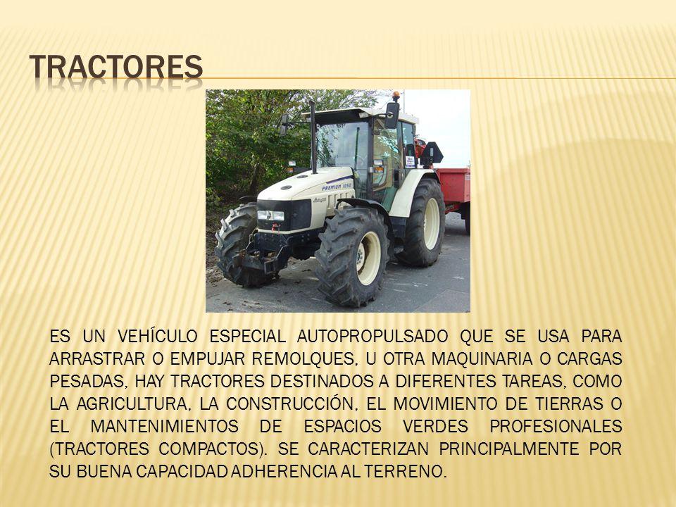 Trabajos de transporte o remolque Trabajos de arrastre Trabajos de empuje Trabajos estacionarios o de transmisión de otros movimientos mediante la toma de fuerza o equipo hidráulico