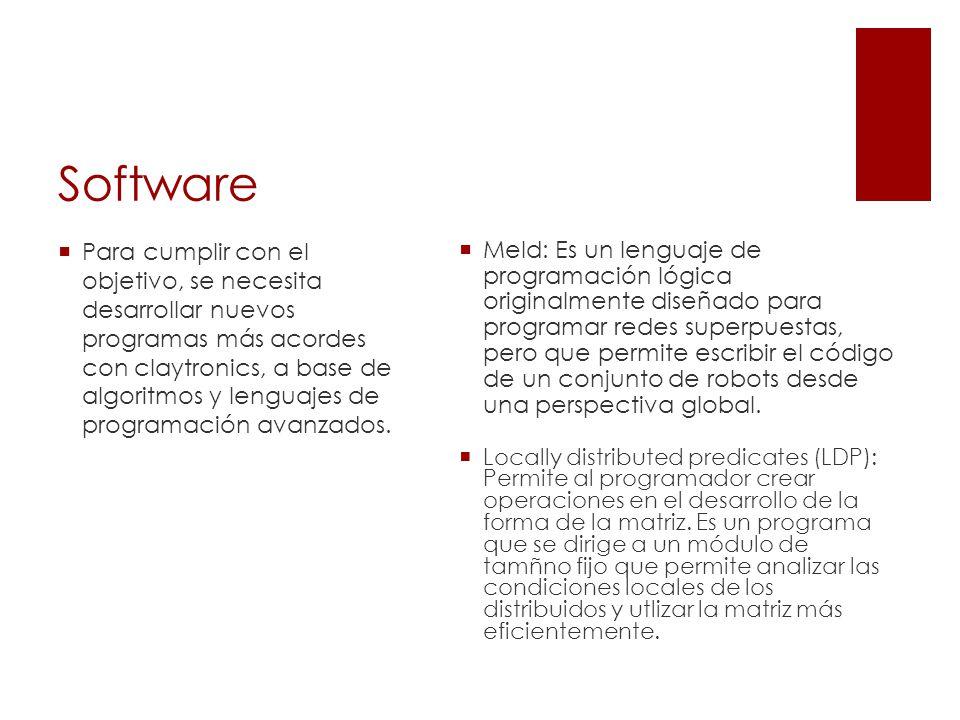 Software Meld: Es un lenguaje de programación lógica originalmente diseñado para programar redes superpuestas, pero que permite escribir el código de