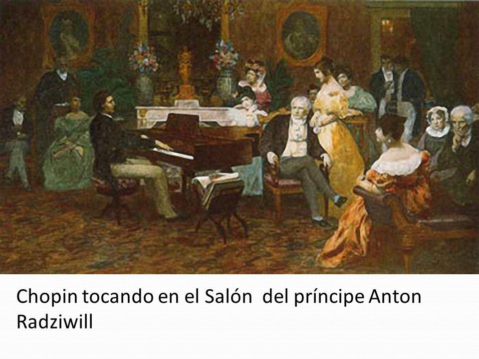 Chopin tocando en el Salón del príncipe Anton Radziwill