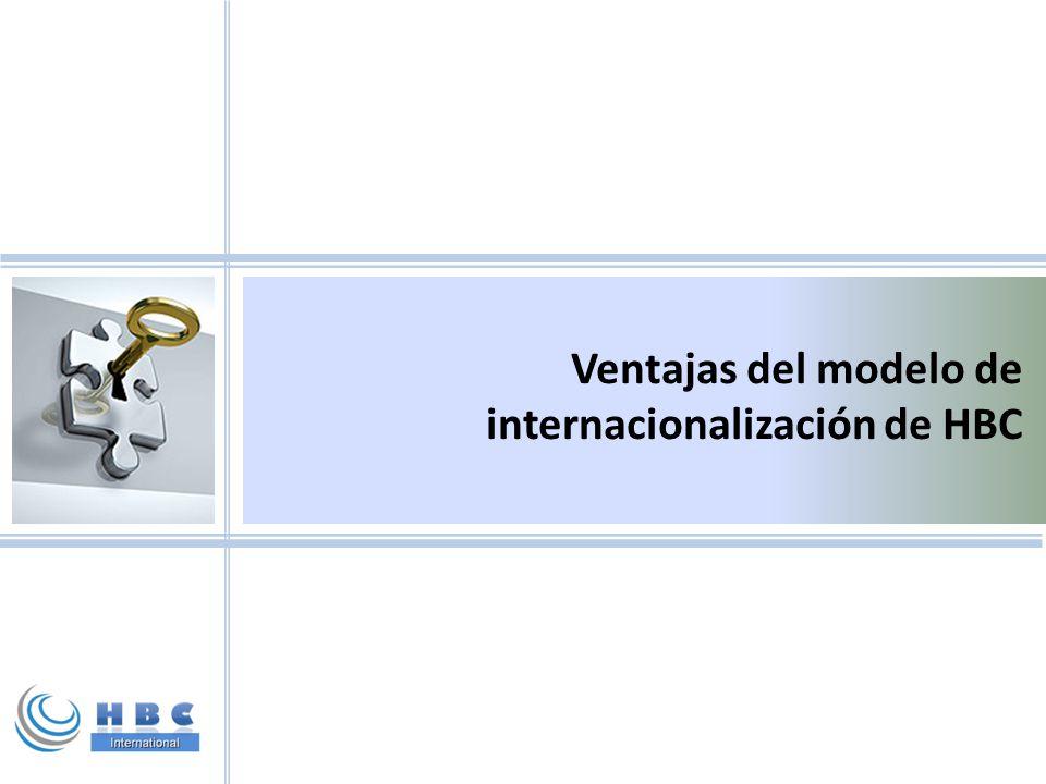 Ventajas del modelo de internacionalización de HBC