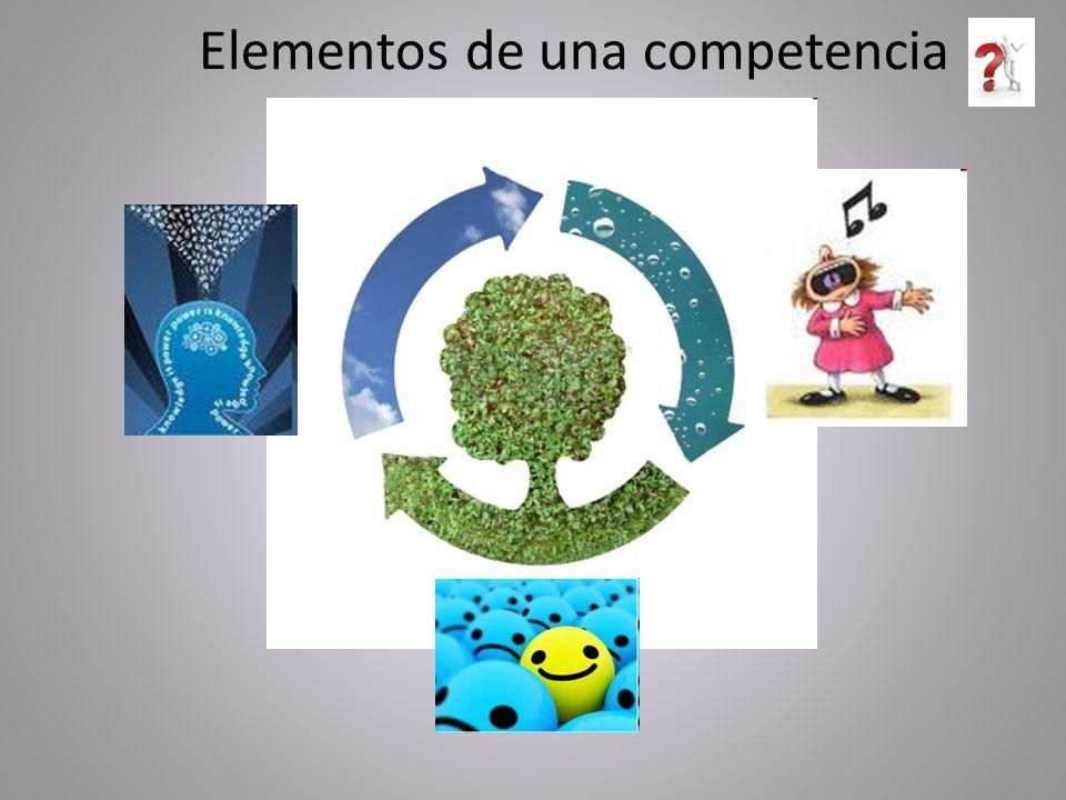 Elementos de una competencia
