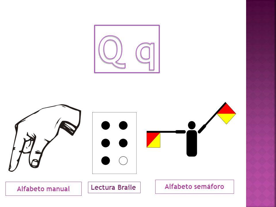 La q castellana, al igual que la francesa, es un fonema velar oclusivo sordo de sonido similar a la k delante de las vocales e o i , interponiendo una u muda : que y qui.