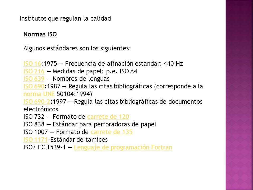 ISO 3029 Formato carrete de 126carrete de 126 ISO 3166ISO 3166 Códigos de paísesCódigos de países ISO 4217ISO 4217 Códigos de divisasCódigos de divisas ISO 7811ISO 7811 Técnica de grabación en tarjetas de identificación ISO 8601ISO 8601 Representación del tiempo y la fecha.