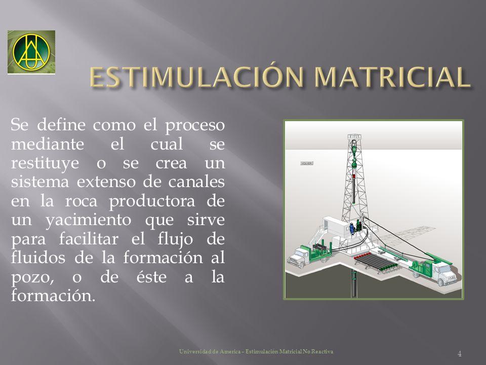 4 Se define como el proceso mediante el cual se restituye o se crea un sistema extenso de canales en la roca productora de un yacimiento que sirve par