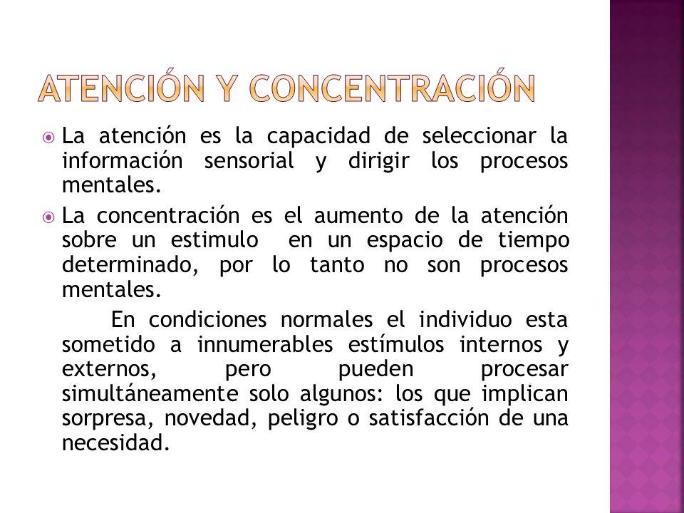 La selección depende a) De características del estimulo b) Del sujeto : necesidades, experiencias.