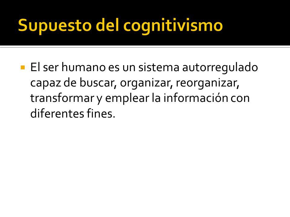El ser humano es un sistema autorregulado capaz de buscar, organizar, reorganizar, transformar y emplear la información con diferentes fines.