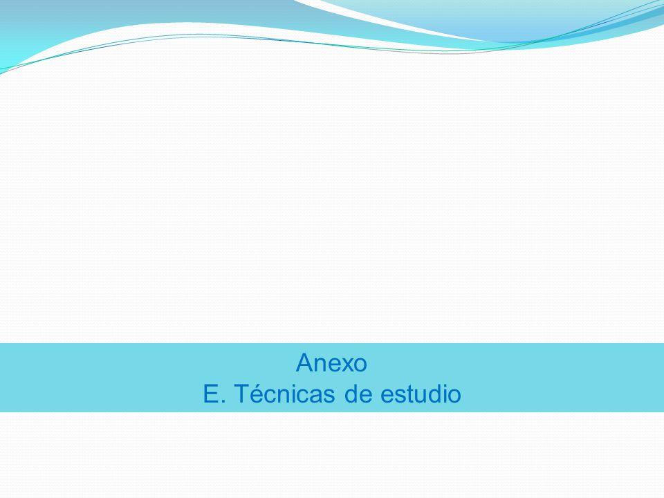Anexo E. Técnicas de estudio