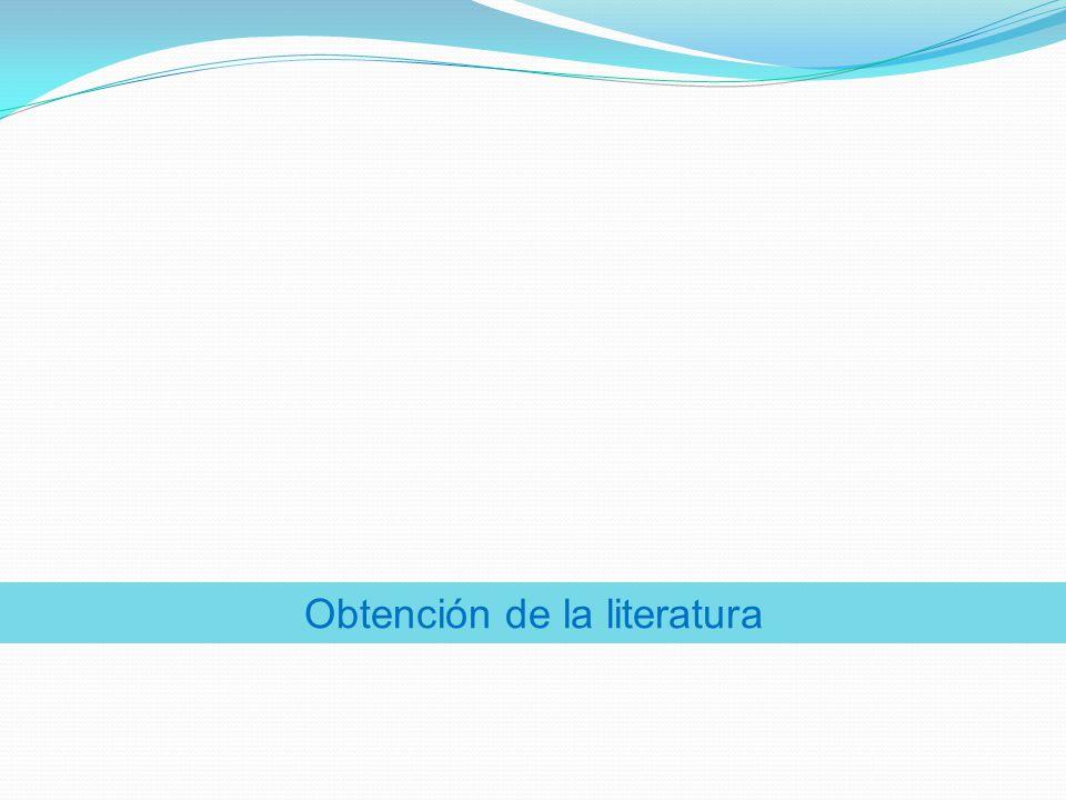 Obtención de la literatura